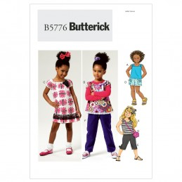 Butterick Sewing Pattern 5776 Children's Top Dress Shorts Trousers & Bag