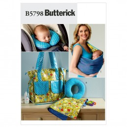 Butterick Sewing Pattern 5798 Baby's Changing Pad Neck Support Carrier Nappy Bag