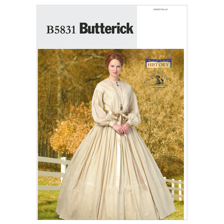 Butterick Sewing Pattern 5831 Misses' Evening Ballgown Dress