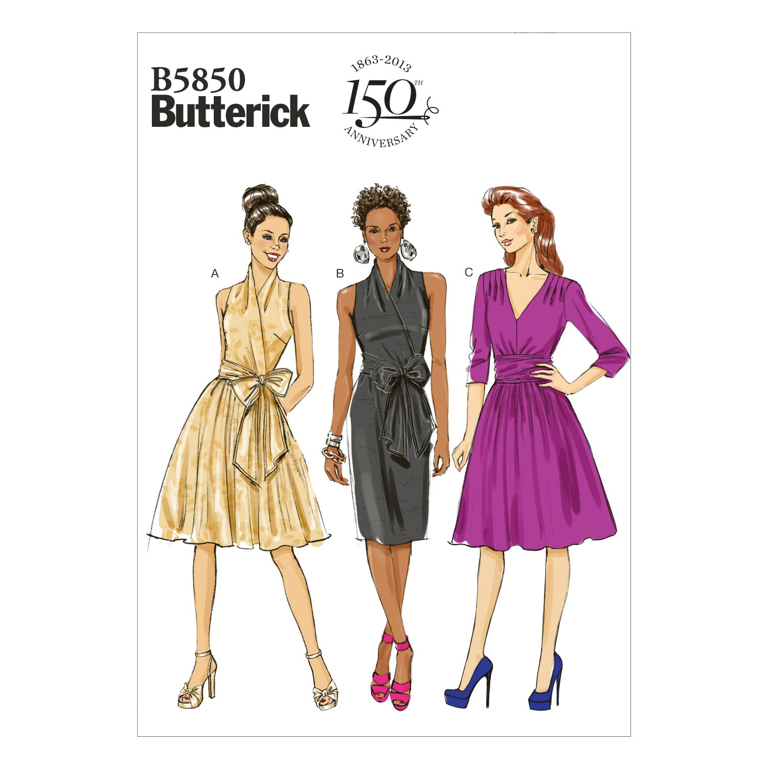 Butterick Sewing Pattern 5850 Misses' Short Dress Evening Out