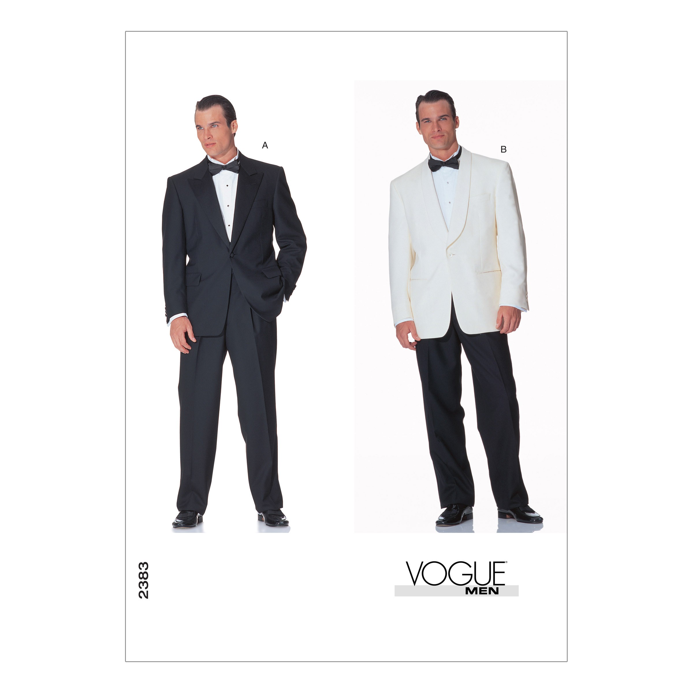 Vogue Sewing Pattern V2383 Men's Jacket and Trousers Smart Suit