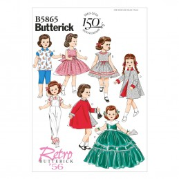 "Butterick Sewing Pattern 5865 18"" Doll Clothes Prom Dress Coat Jacket"