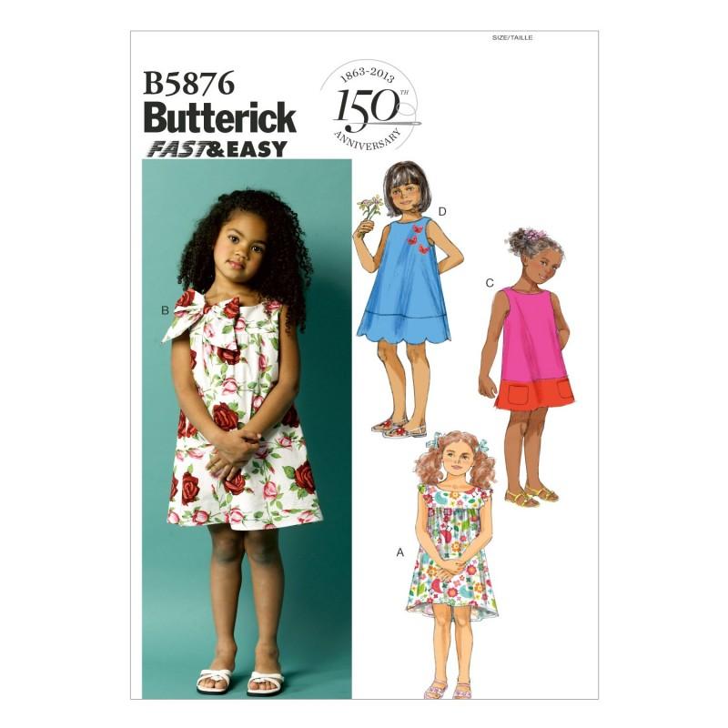 Butterick Sewing Pattern 5876 Children's Summer Dress