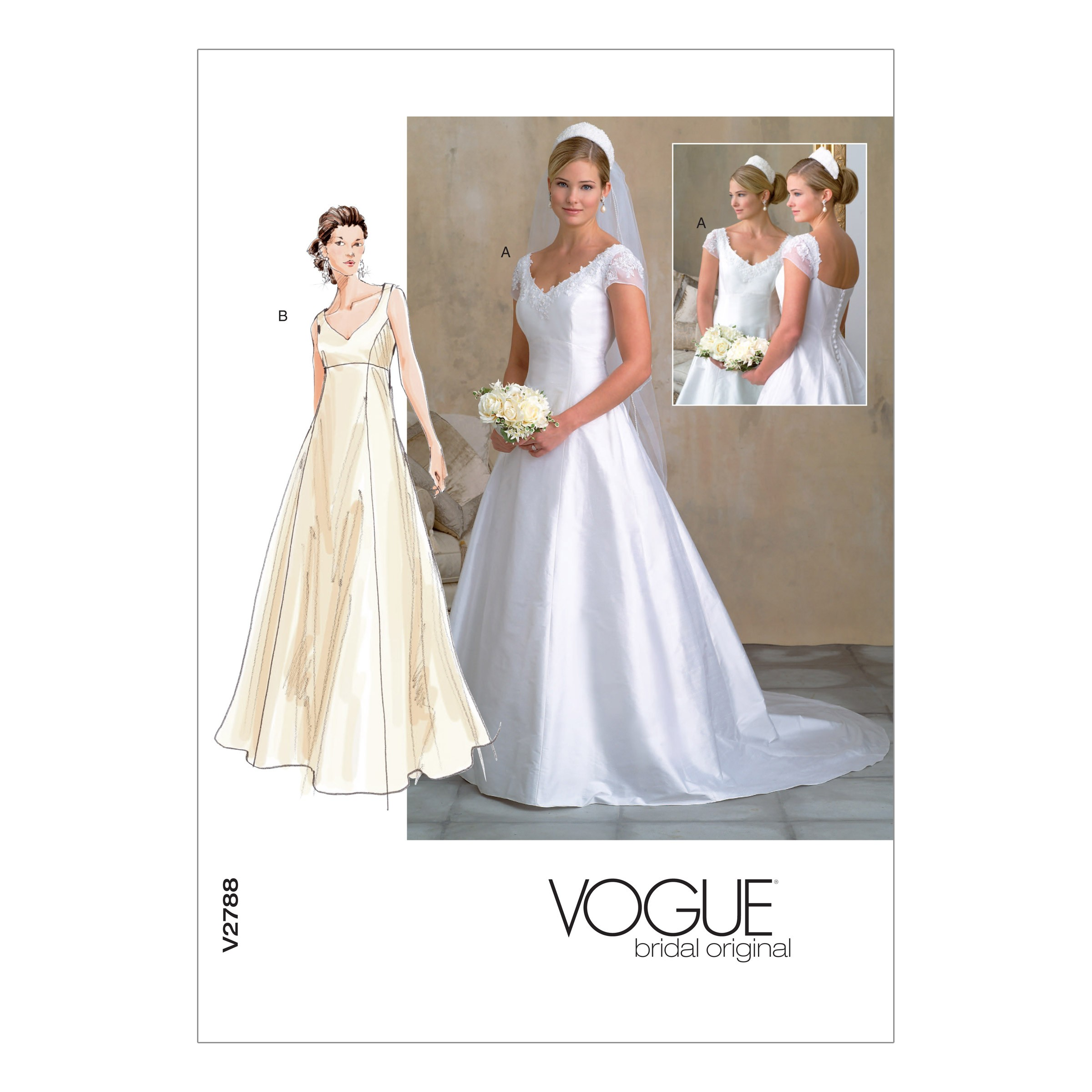 Vogue Sewing Pattern V2788 Women's Special Occasion Wedding Dress