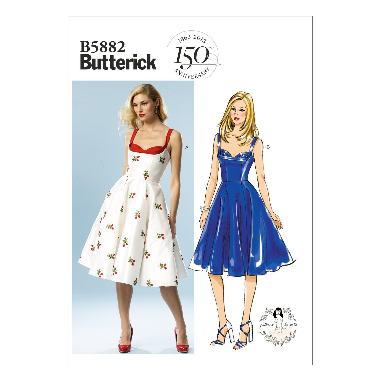 Butterick Sewing Pattern 5880 Misses' Petite Dress & Belt