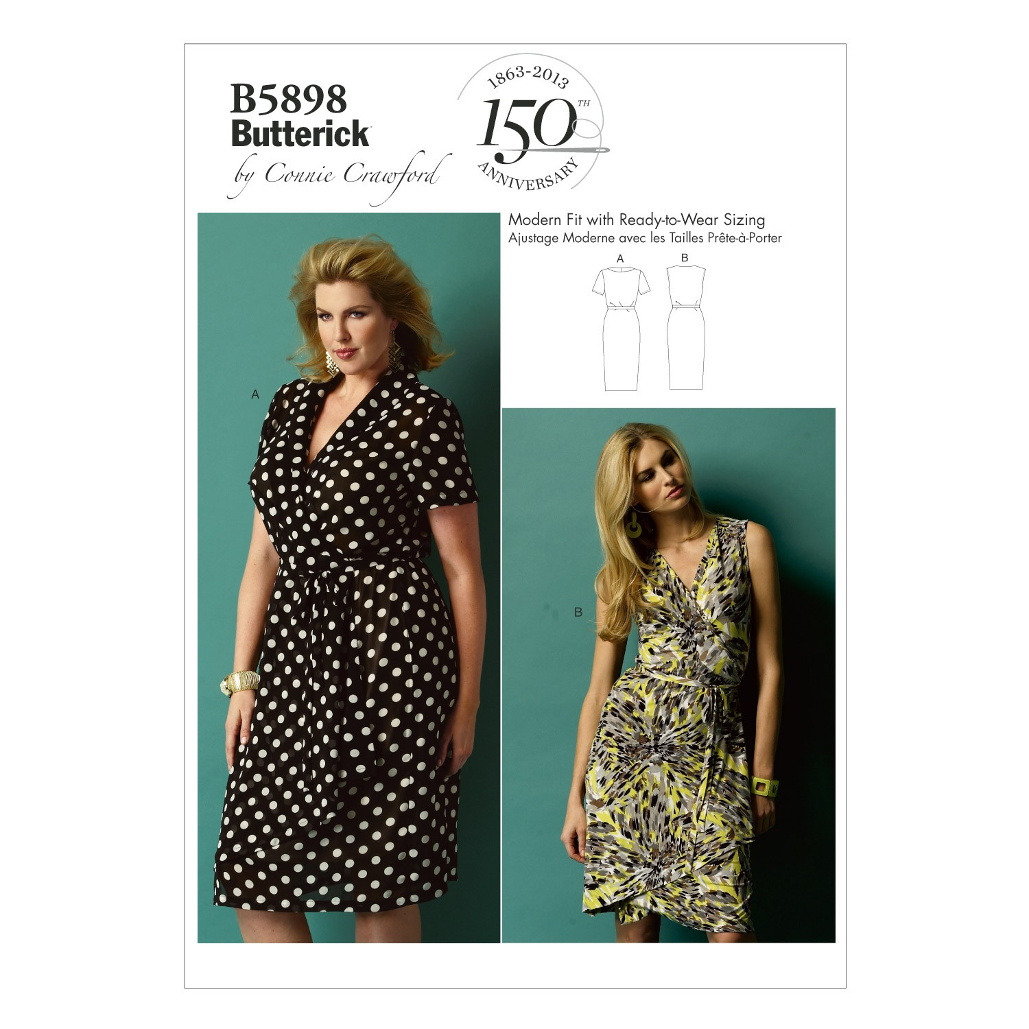 Butterick Sewing Pattern 5898 Misses' Loose Fitting Dress