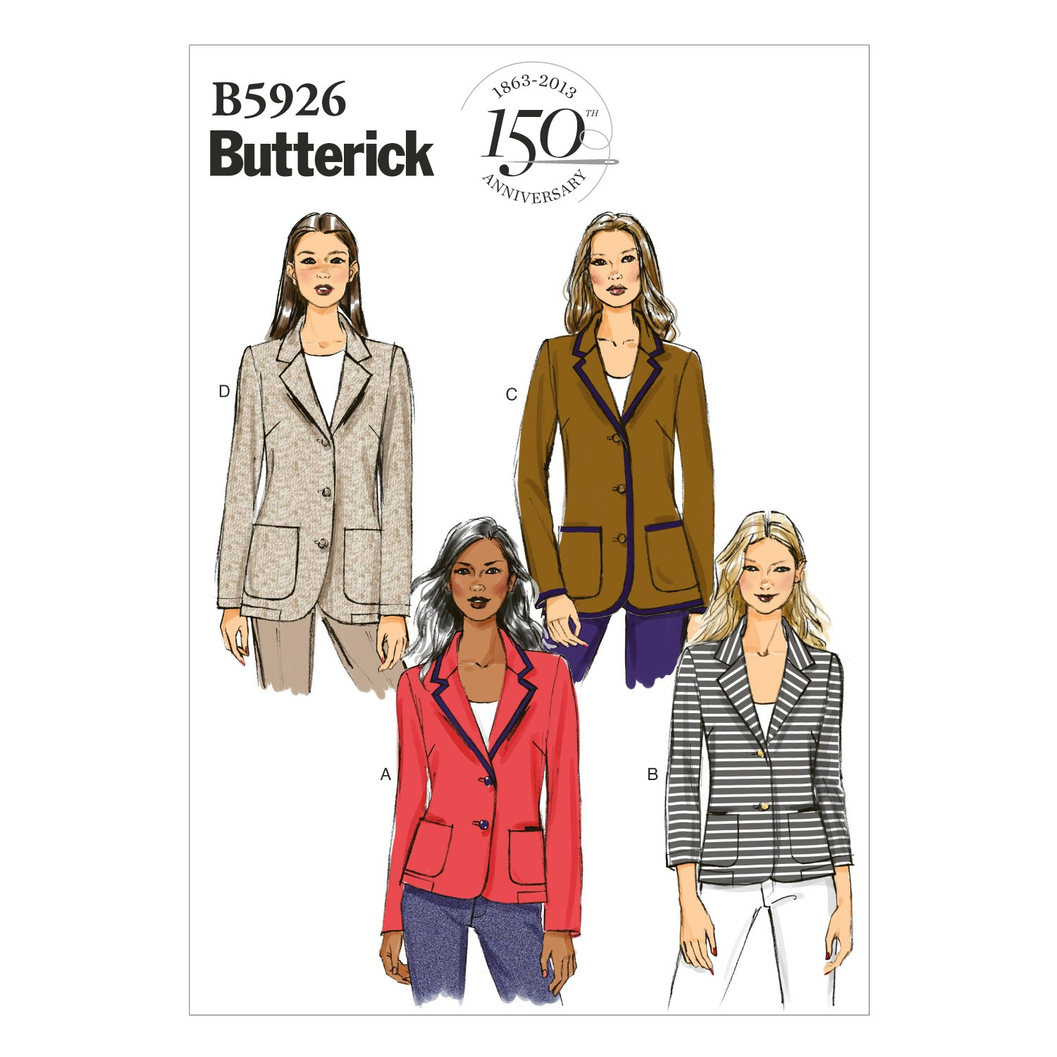 Butterick Sewing Pattern 5926 Misses' Petite Jacket Fitted Coat