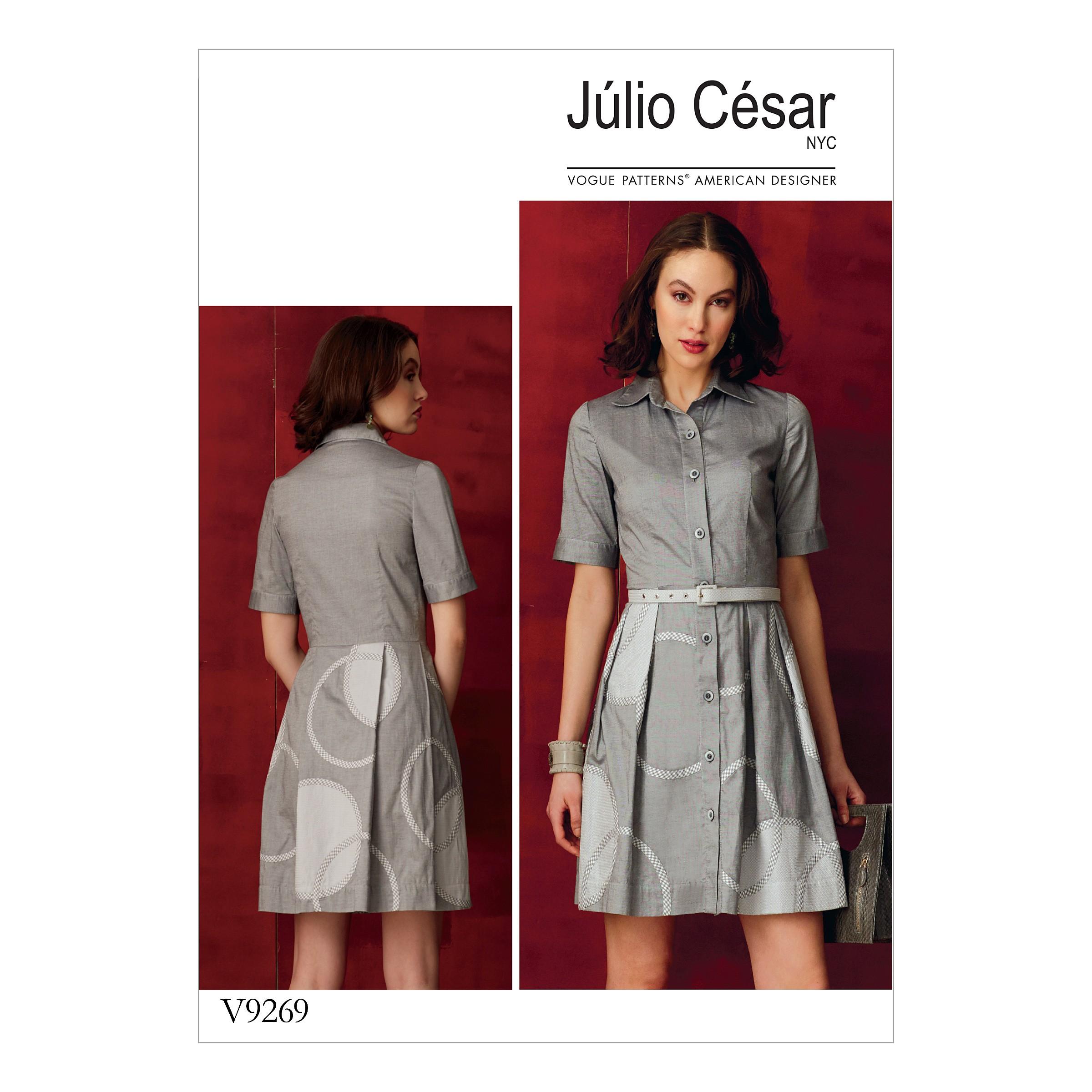 Vogue Sewing Pattern V9269 Women's Petite Shirt Dress With Appliqué