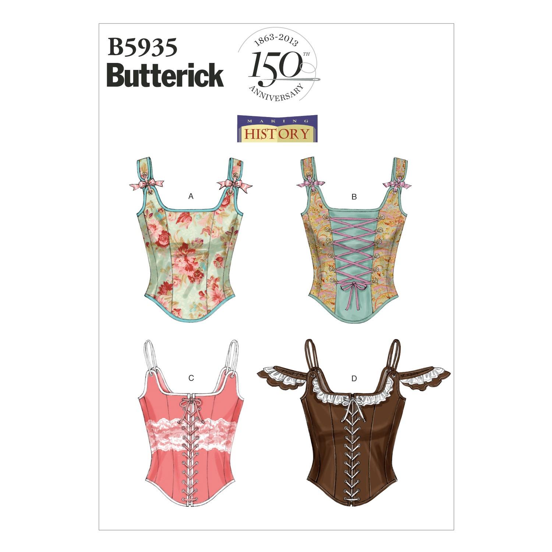 Butterick Sewing Pattern 5935 Misses' Vintage Boned Corset