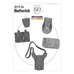 Butterick Sewing Pattern 5936 Costume Gauntlet Water Bottle Carrier & Pouches