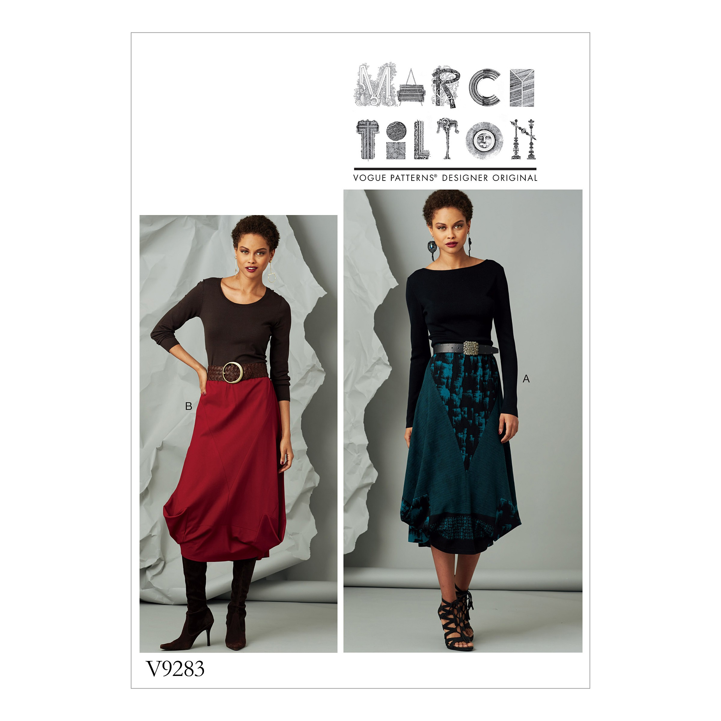 Vogue Sewing Pattern V9283 Women's Elastic Waist Skirt With Side Detail