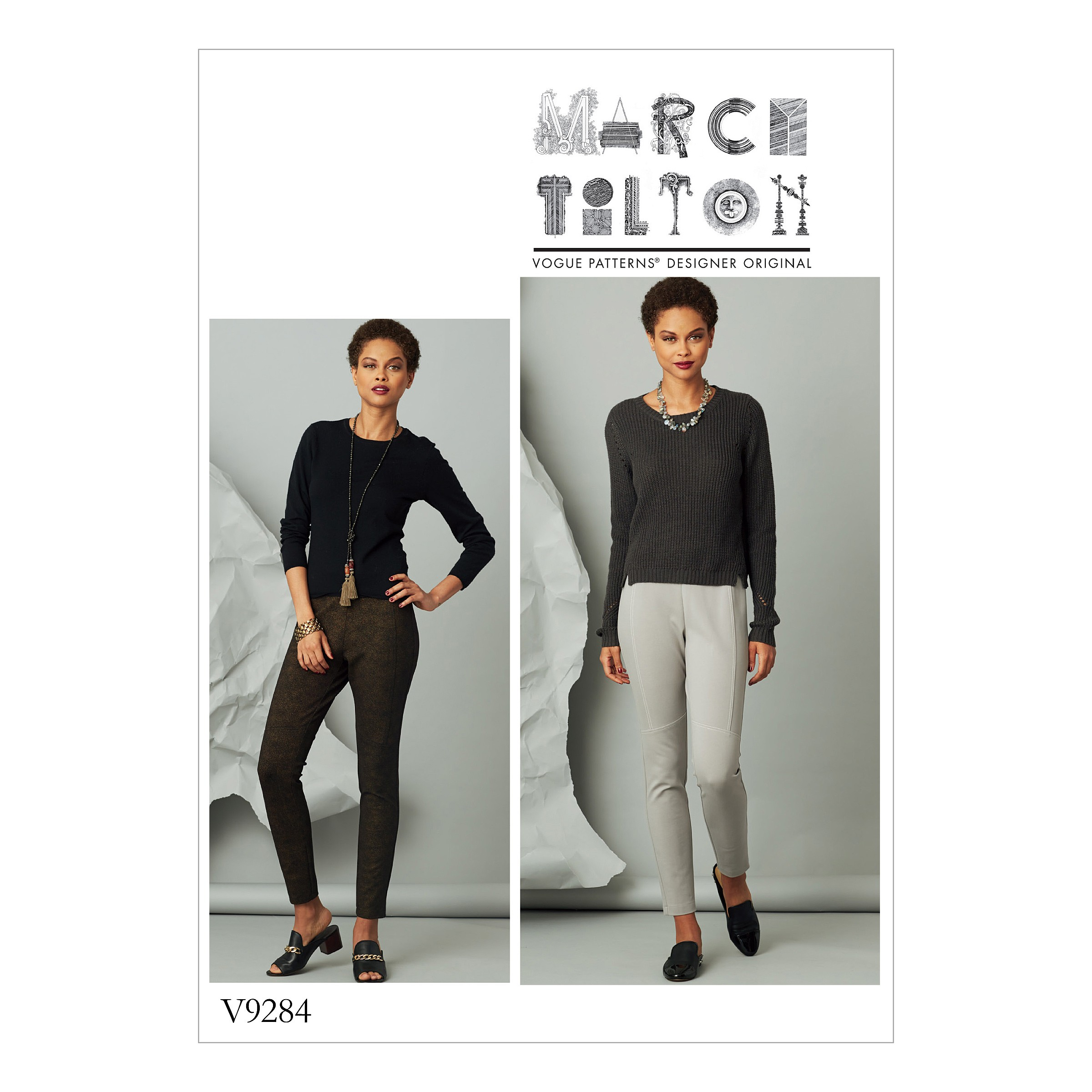 Vogue Sewing Pattern V9284 Women's Seam Detail Knit Trousers