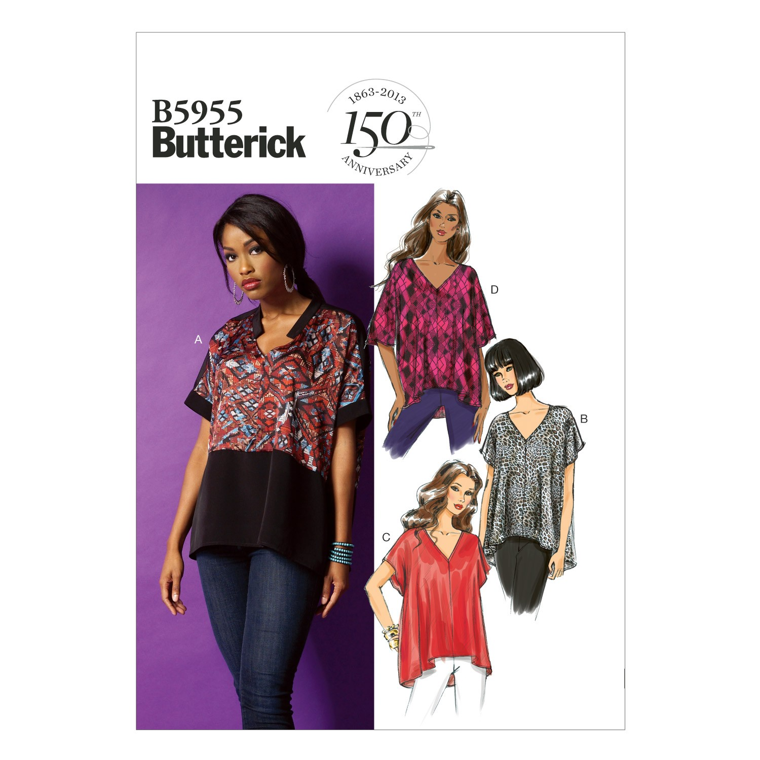 Butterick Sewing Pattern 5955 Misses' Loose Fitting Top