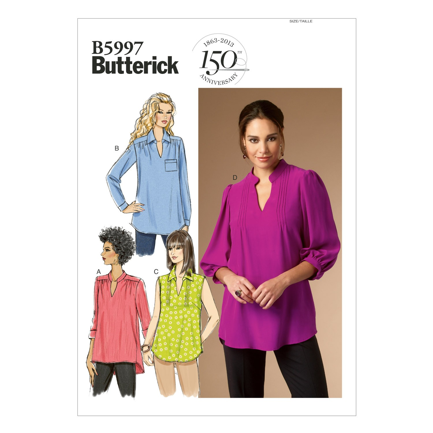 Butterick Sewing Pattern 5997 Misses' Loose Top