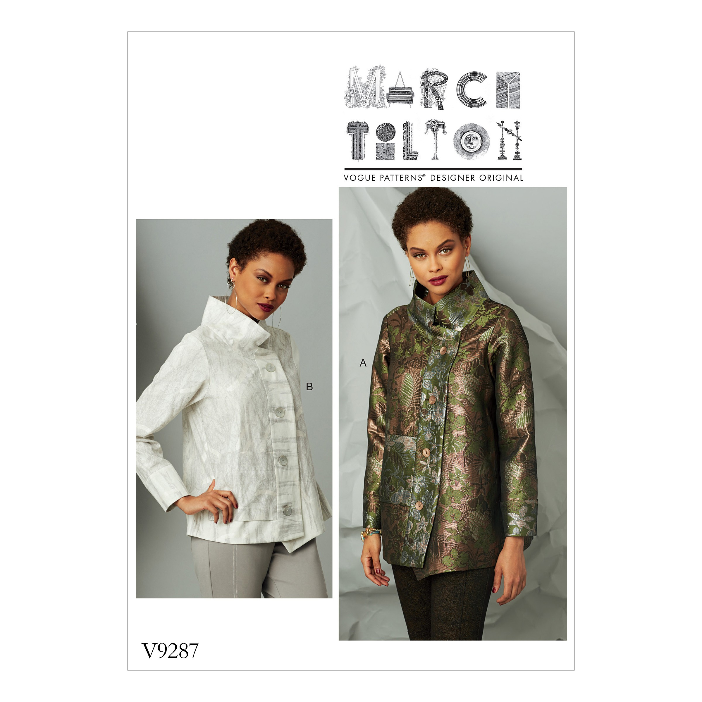 Vogue Sewing Pattern V9287 Women's Jacket With Stand Collar & Extended Placket