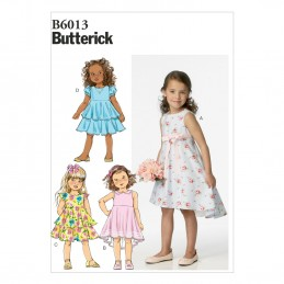 Butterick Sewing Pattern 6013 Children's Girl's Formal Dress
