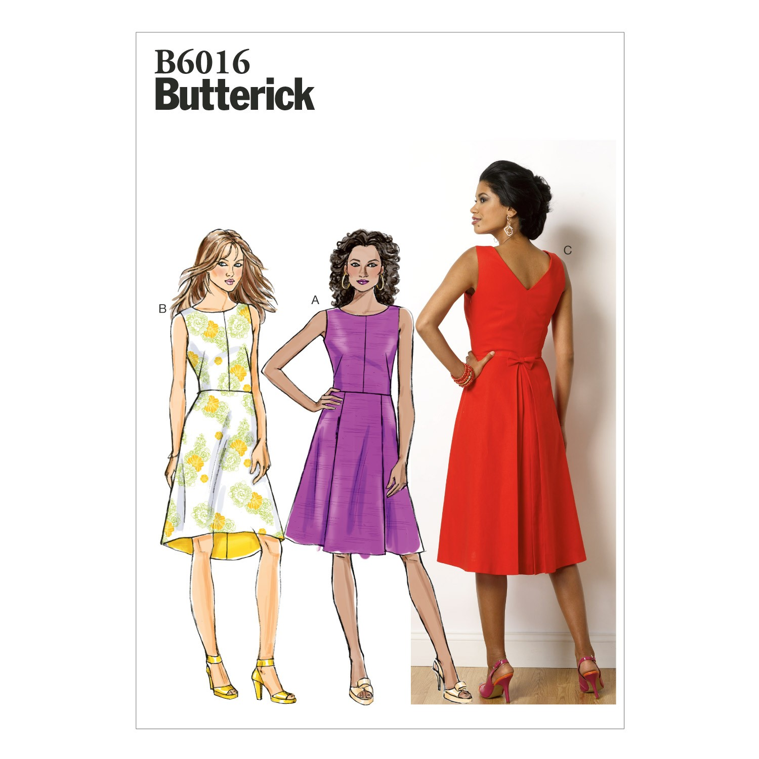 Butterick Sewing Pattern 6016 Misses' Lined Bodice Dress