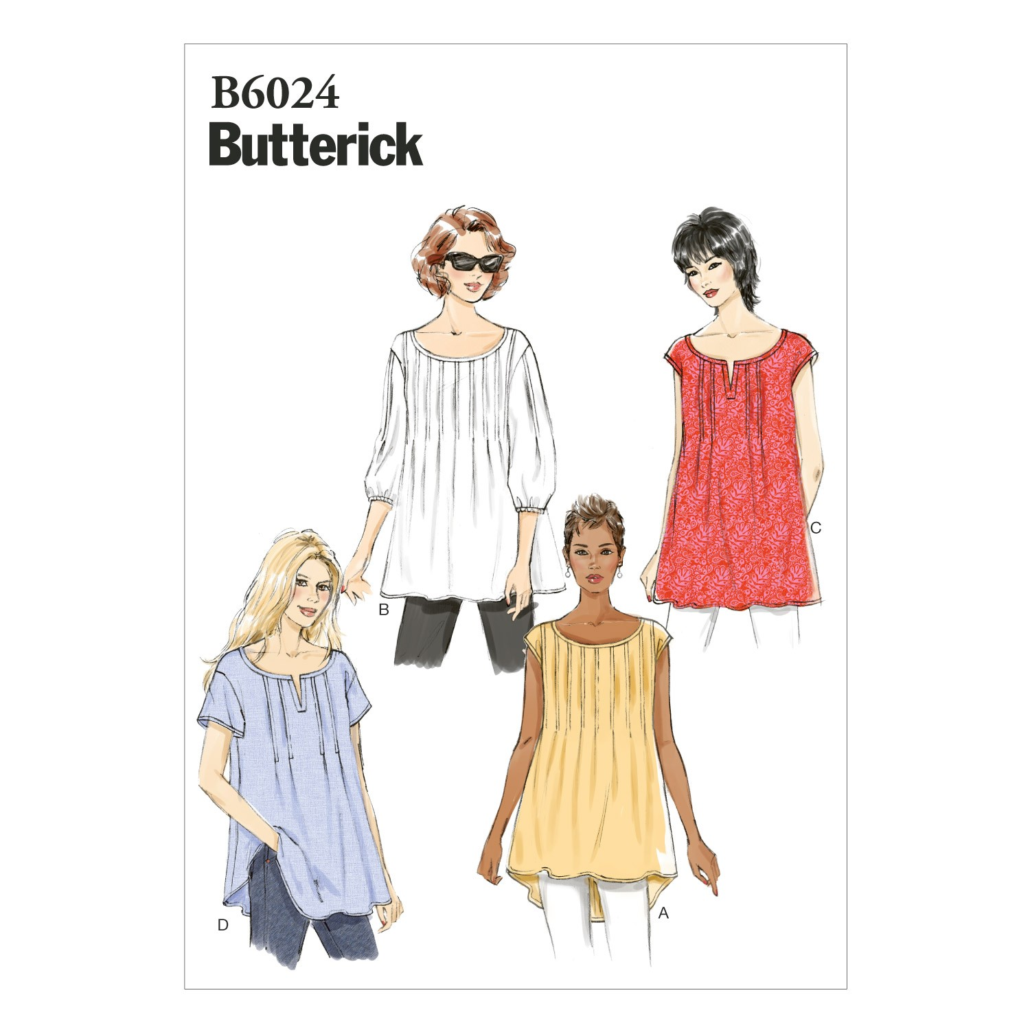 Butterick Sewing Pattern 6024 Misses' Loose Fitting Top