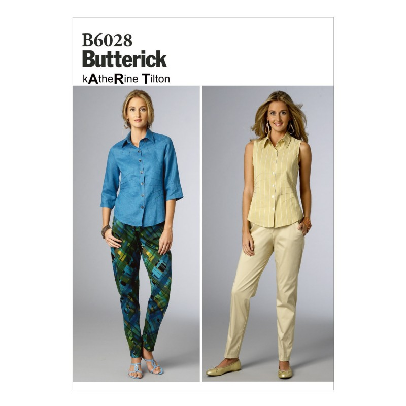 Butterick Sewing Pattern 6028 Misses' Semi-fitted Trousers
