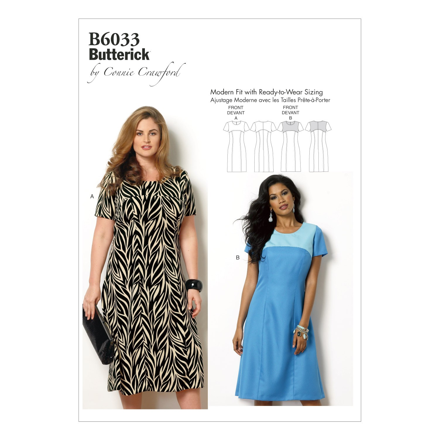 Butterick Sewing Pattern 6033 Misses' Fitted Dress