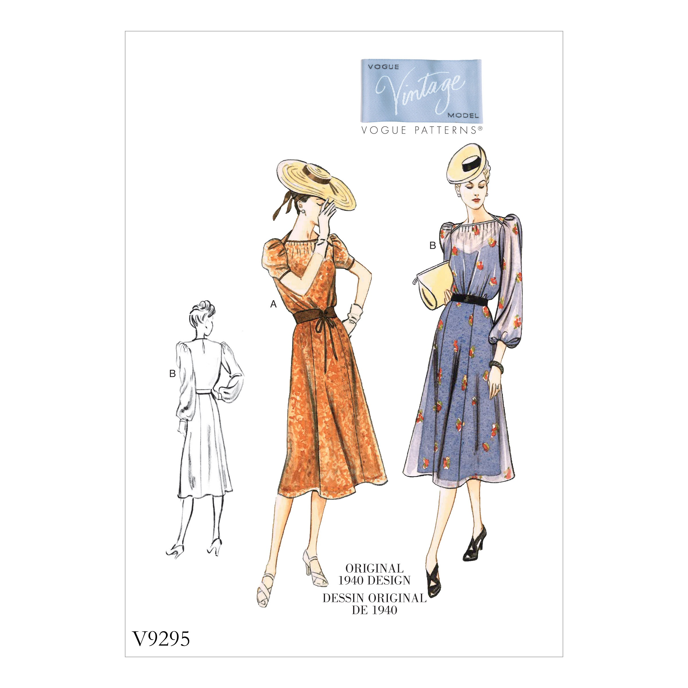 Vogue Sewing Pattern V9295 Women's Vintage Misses' Dress