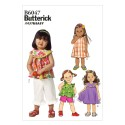 Butterick Sewing Pattern 6047 Toddlers' Top Dress Shorts & Trousers