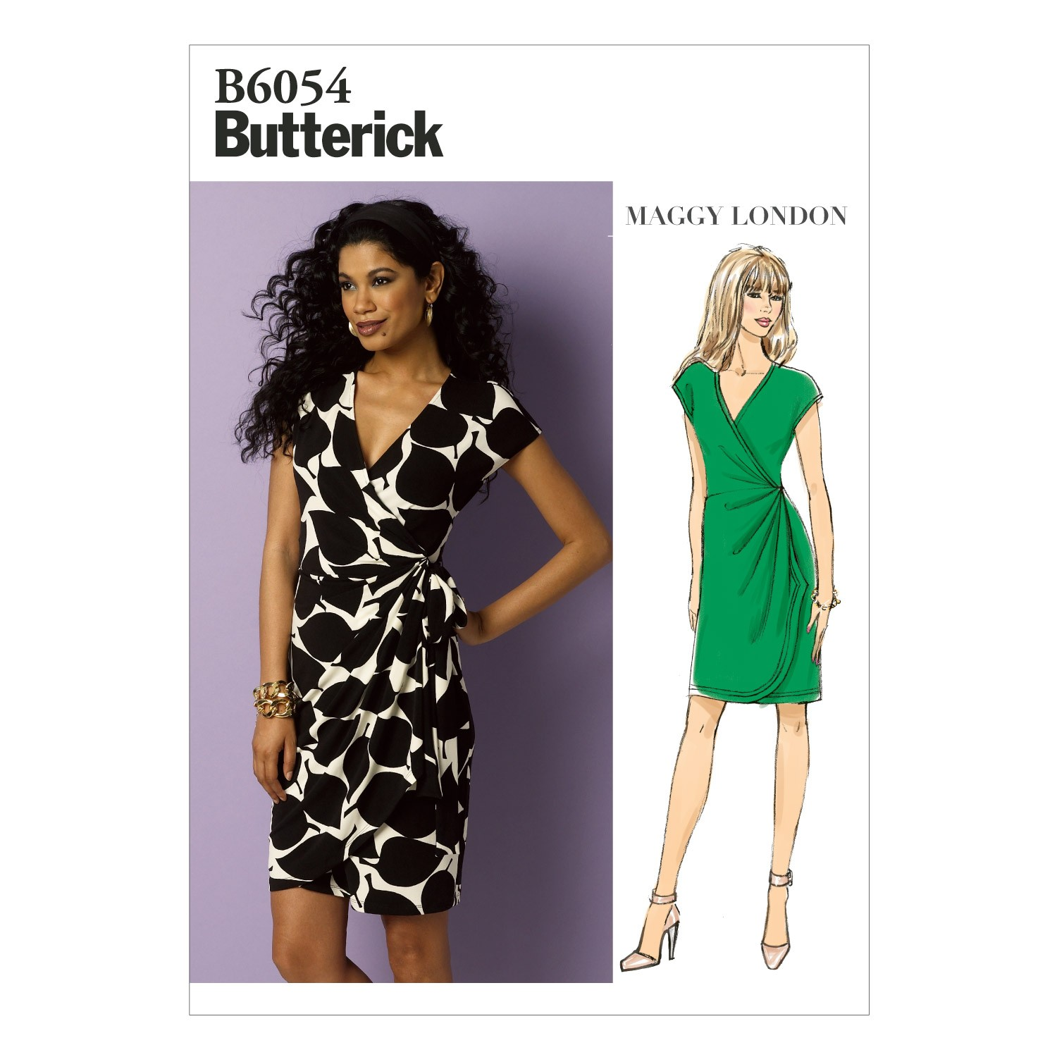 Butterick Sewing Pattern 6054 Misses' Fitted Wrap Dress