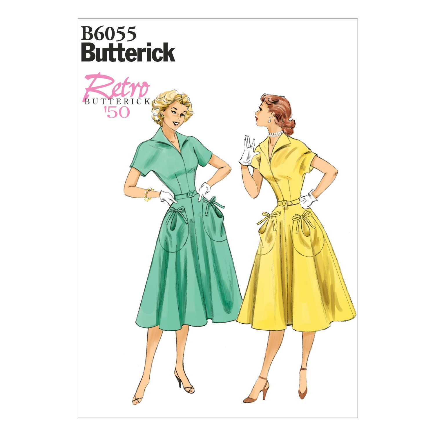 Butterick Sewing Pattern 6055 Misses' Dress & Belt