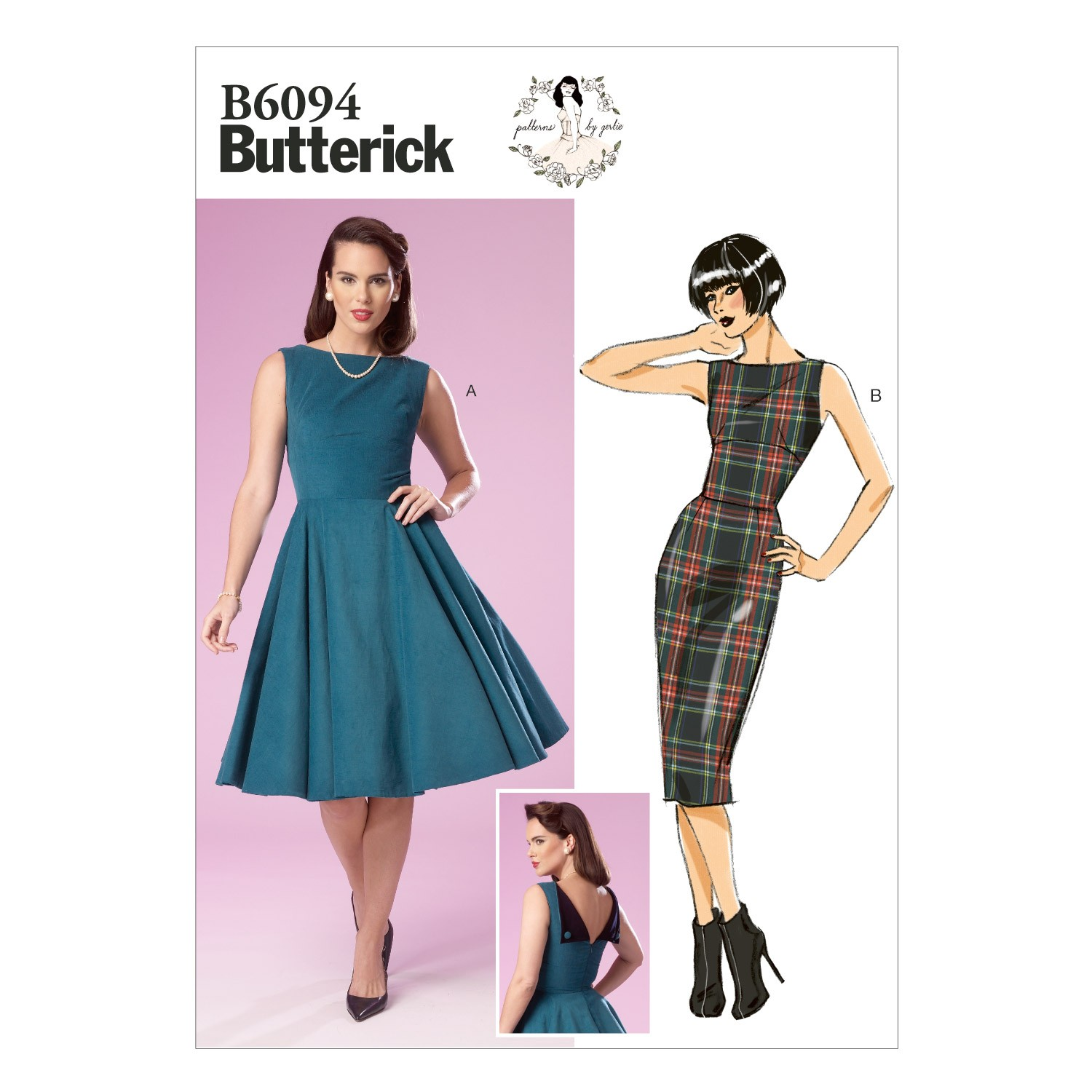 Butterick Sewing Pattern 6094 Misses' Dress Close Fitting Lined Bodice