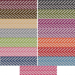 10mm Berisfords Woven Herringbone Pattern Ribbon