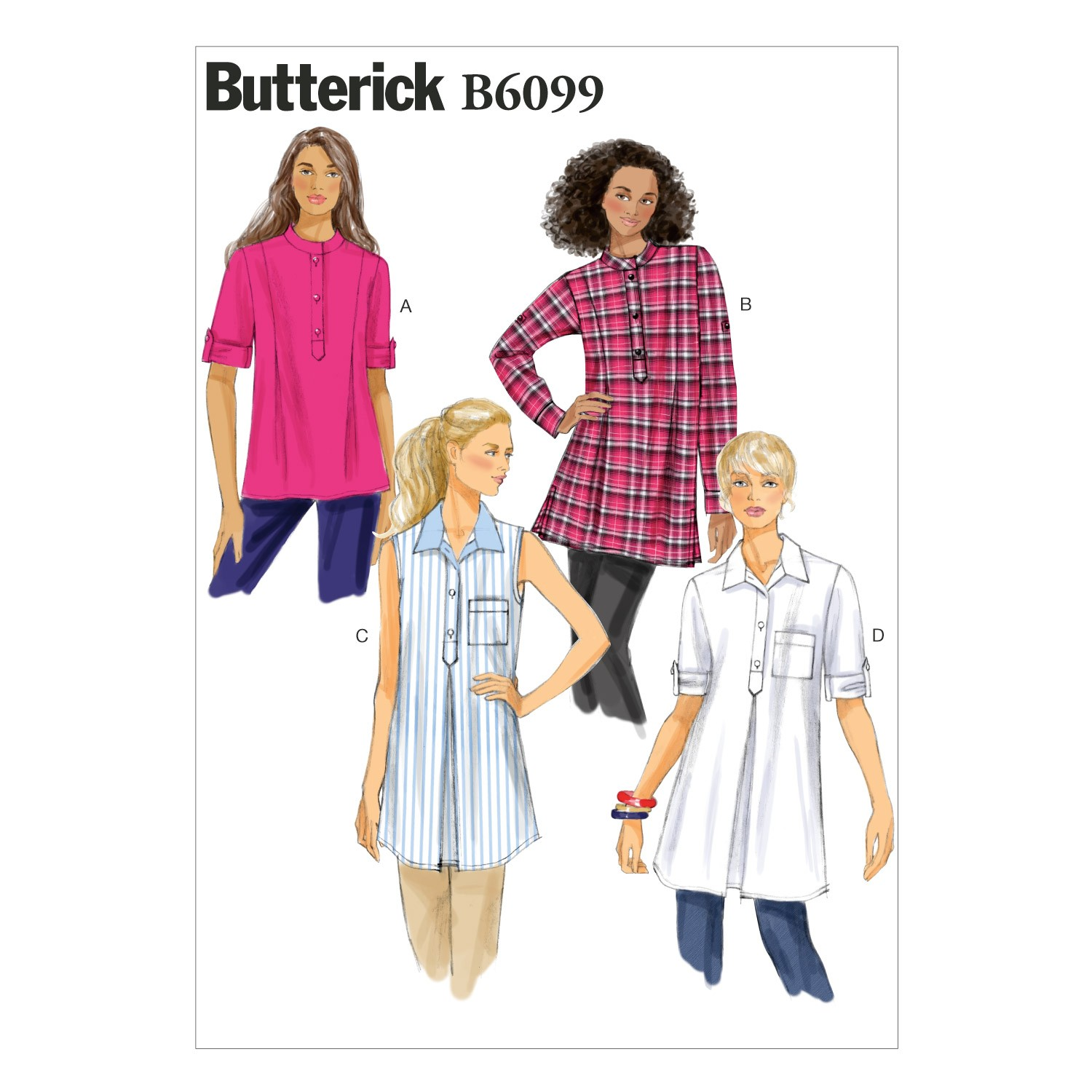 Butterick Sewing Pattern 6099 Misses' Loose Fitting Tunic