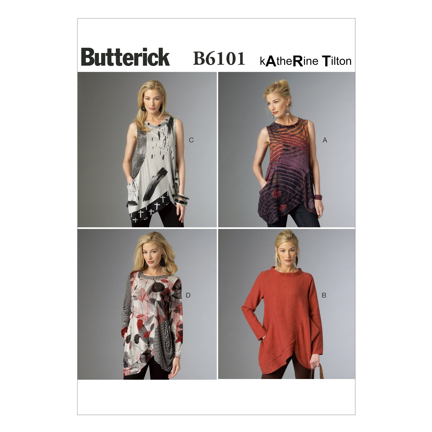Butterick Sewing Pattern 6101 Misses' Loose Fitting Tunic