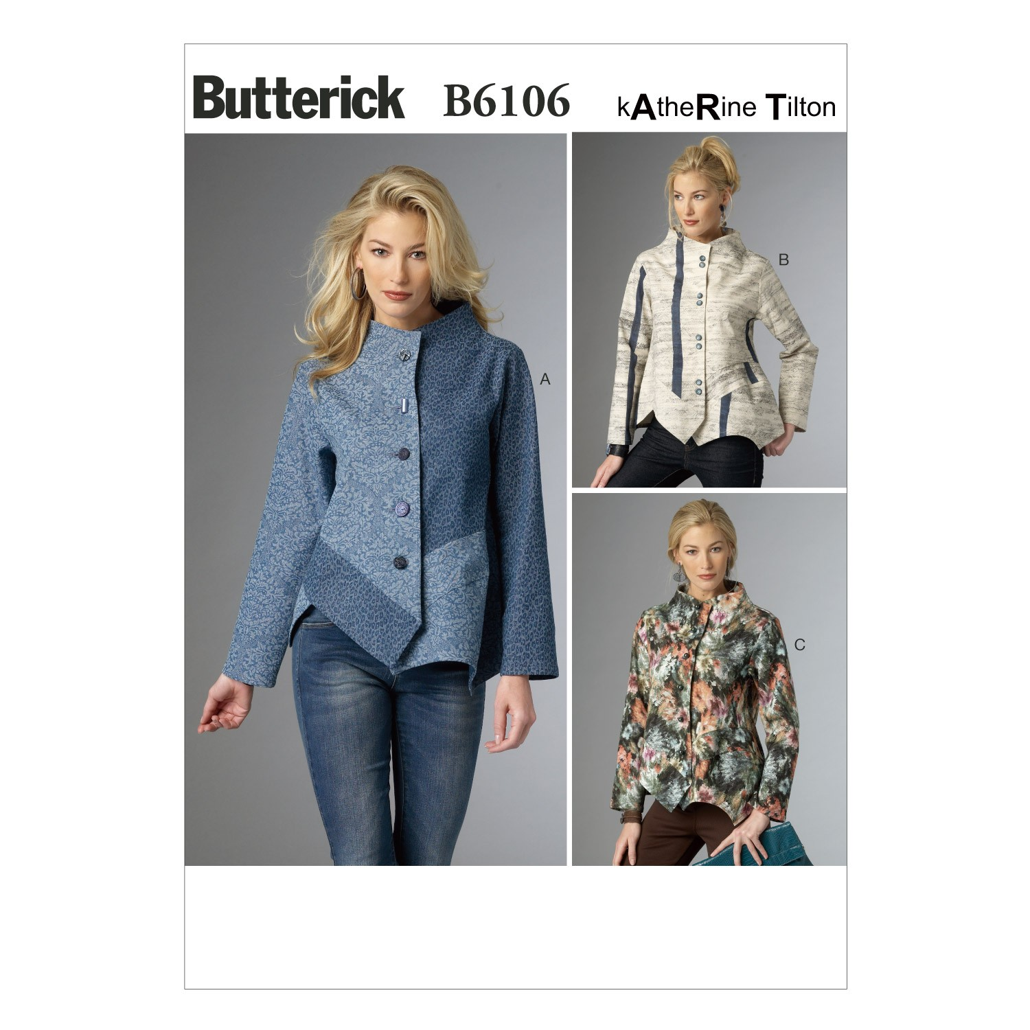 Butterick Sewing Pattern 6106 Misses' Loose Fitting Unlined Jacket Coat