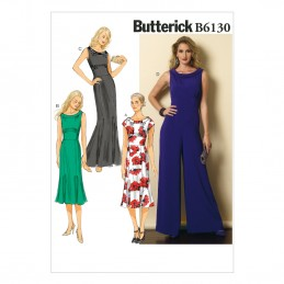 Butterick Sewing Pattern 6130 Misses' Dress & Jumpsuit A5 6-14