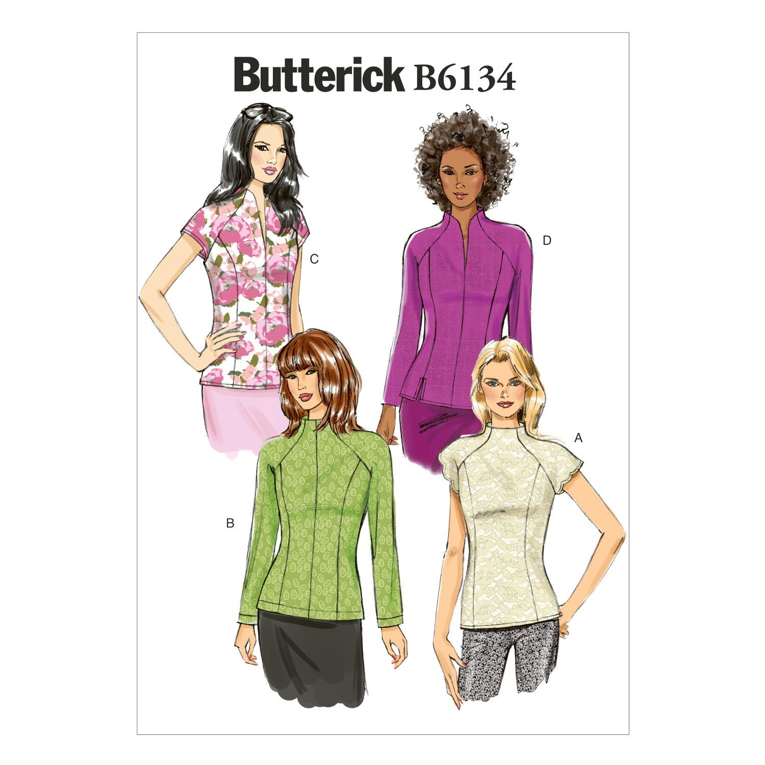 Butterick Sewing Pattern 6134 Misses' Fitted Outdoor Top