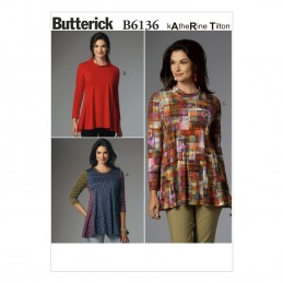 Butterick Sewing Pattern 6136 Misses' Pullover Tunic