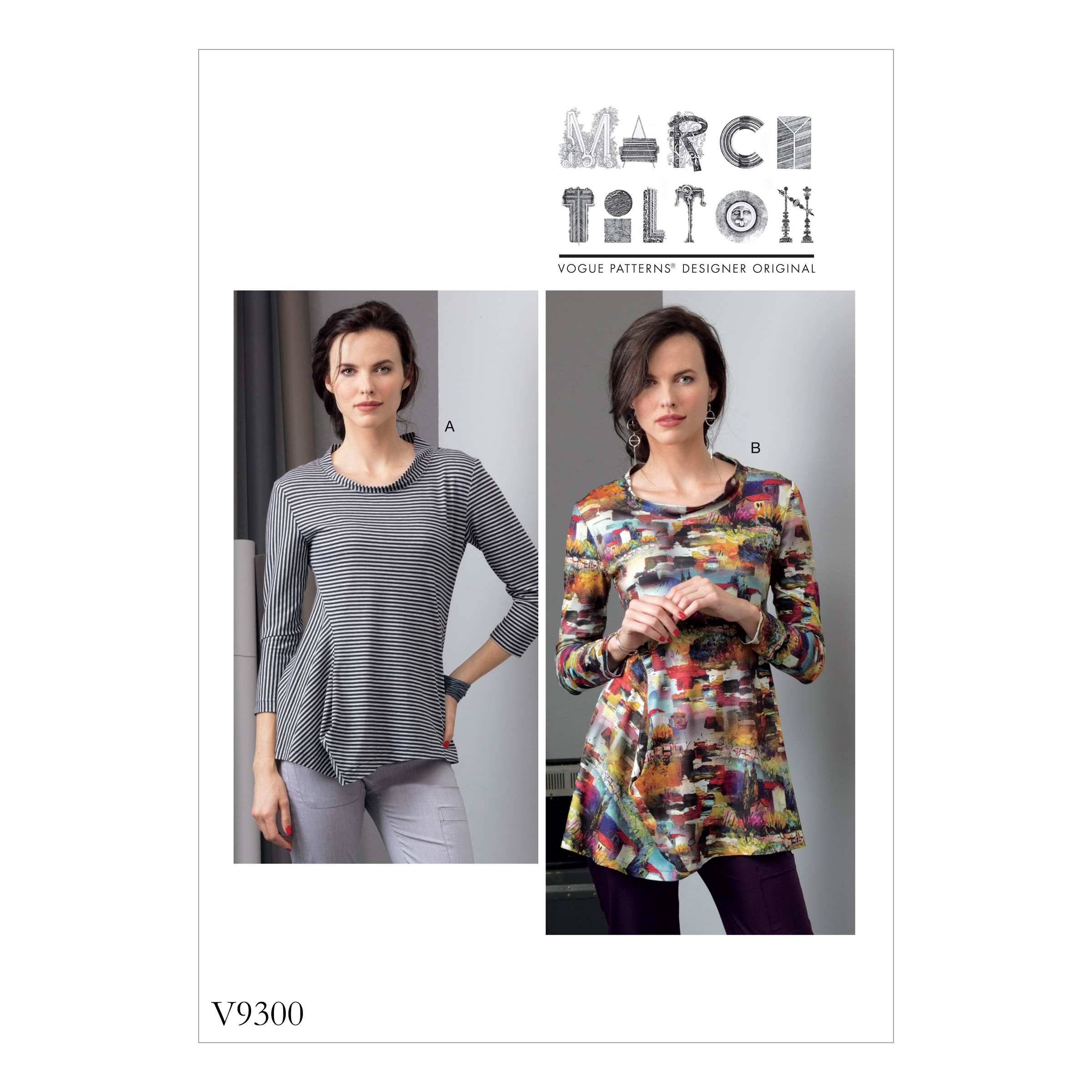 Vogue Sewing Pattern V9300 Women's Misses' Top