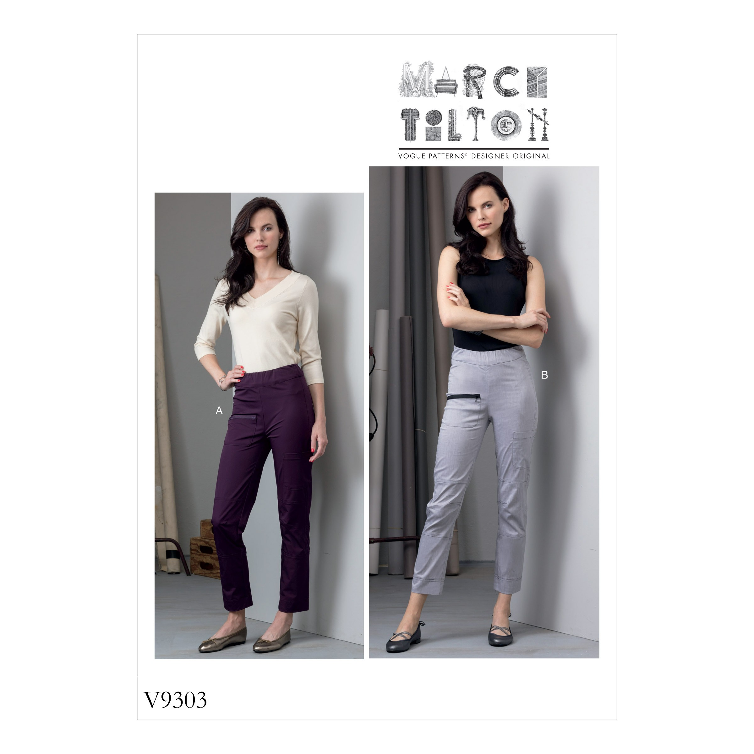 Vogue Sewing Pattern V9303 Women's Close Fitting Trousers With Pockets