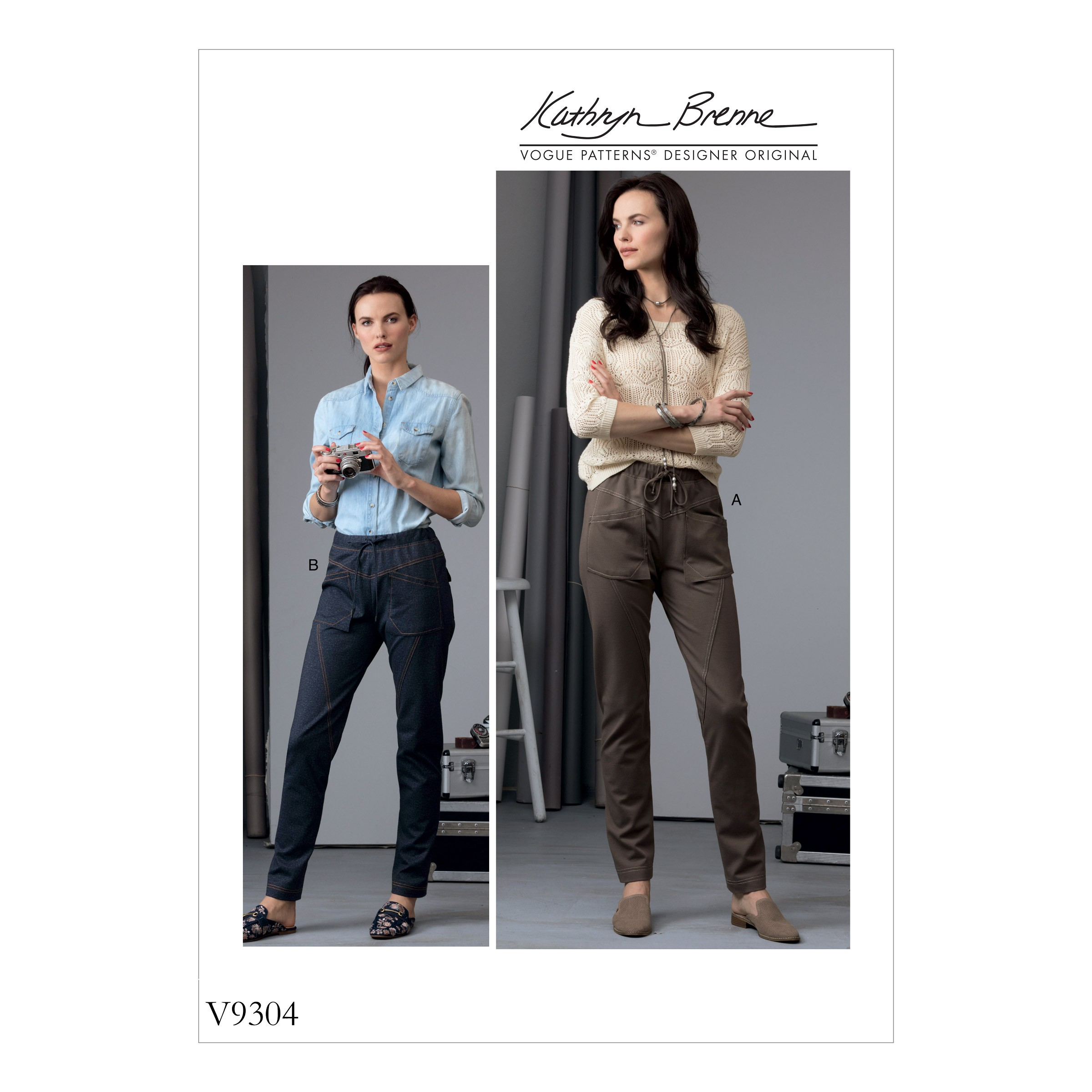 Vogue Sewing Pattern V9304 Women's Drawstring Trousers