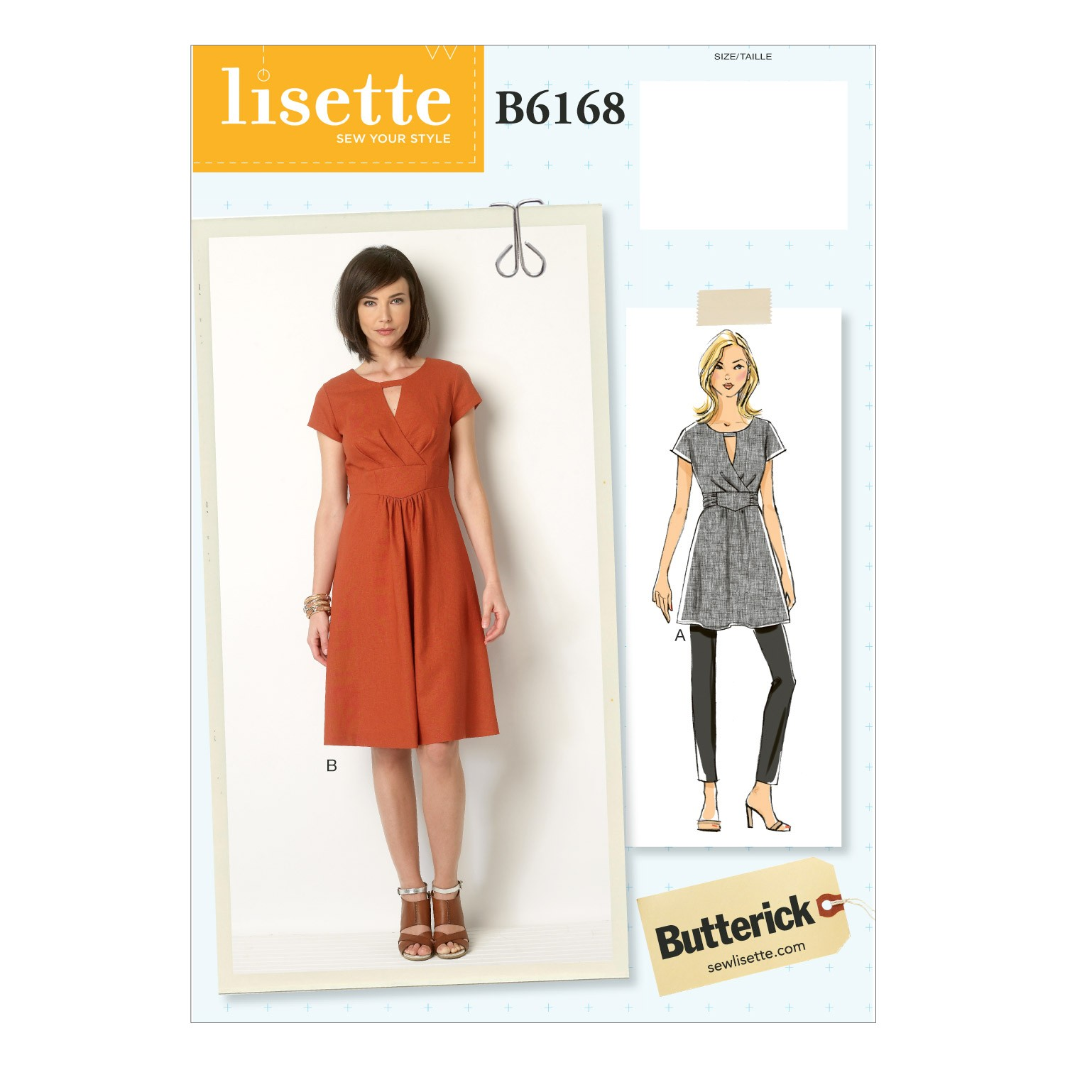 Butterick Sewing Pattern 6168 Misses' Tunic & Dress Semi Fitted
