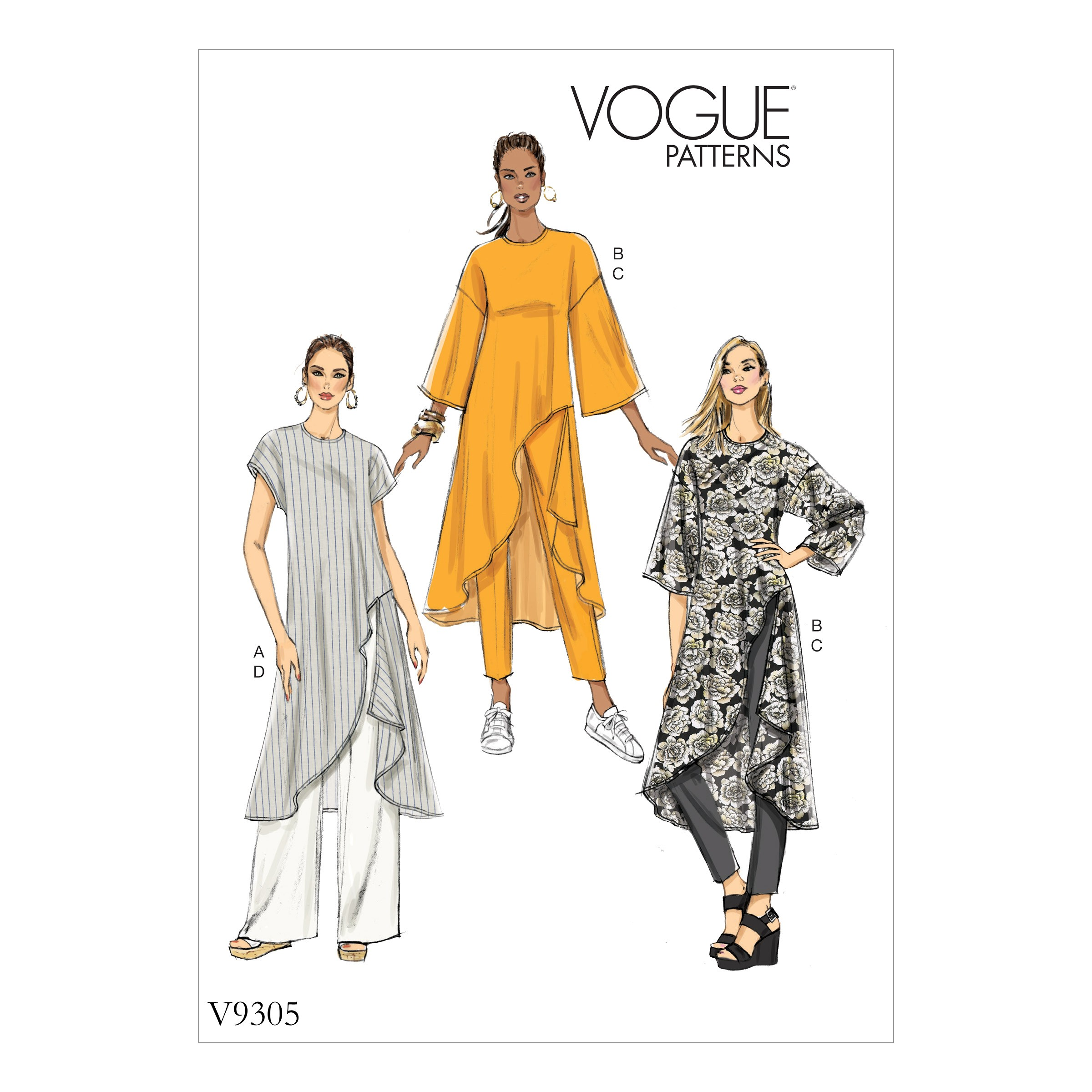 Vogue Sewing Pattern V9305 Women's Misses' Tunic And Trousers
