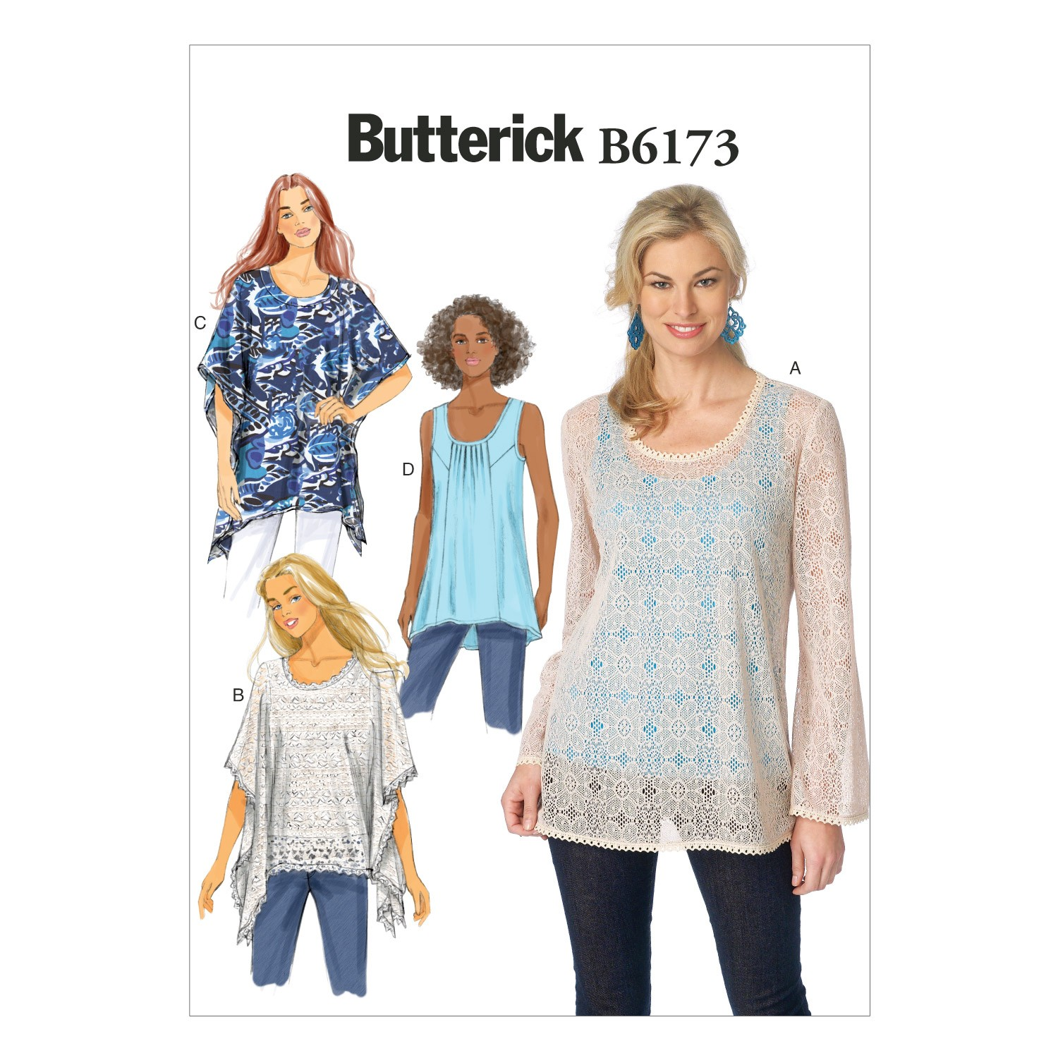 Butterick Sewing Pattern 6173 Misses' Pullover Top & Tunic