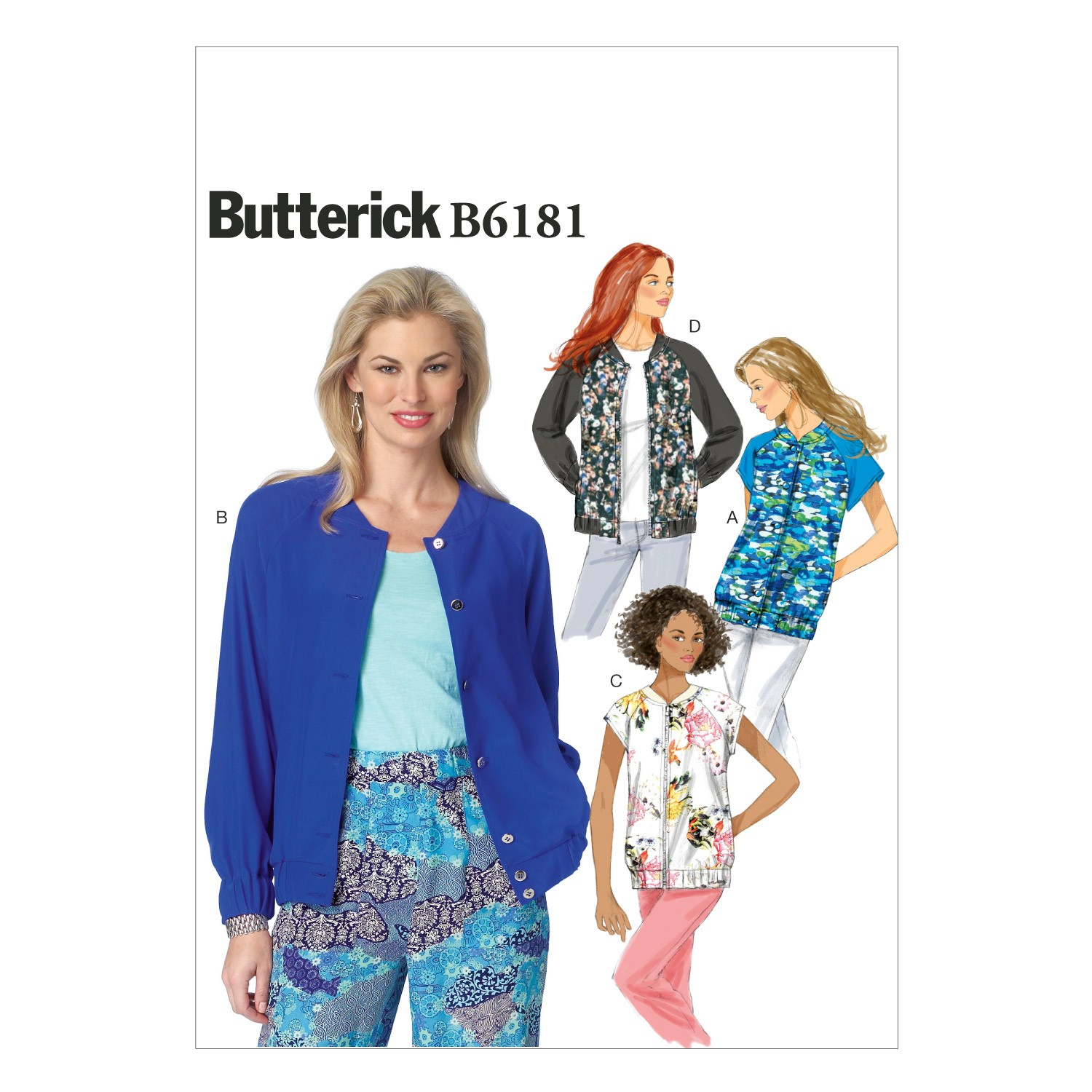 Butterick Sewing Pattern 6181 Misses' Loose Fitting Jacket Coat