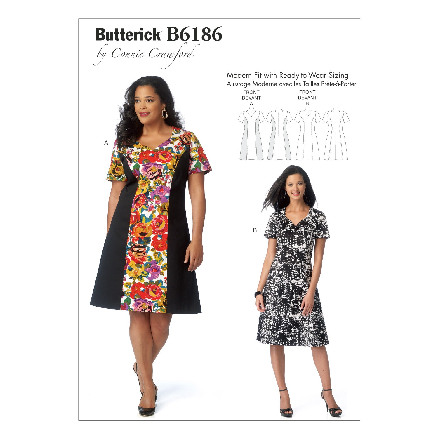 Butterick Sewing Pattern 6186 Misses' Semi Fitted Dress