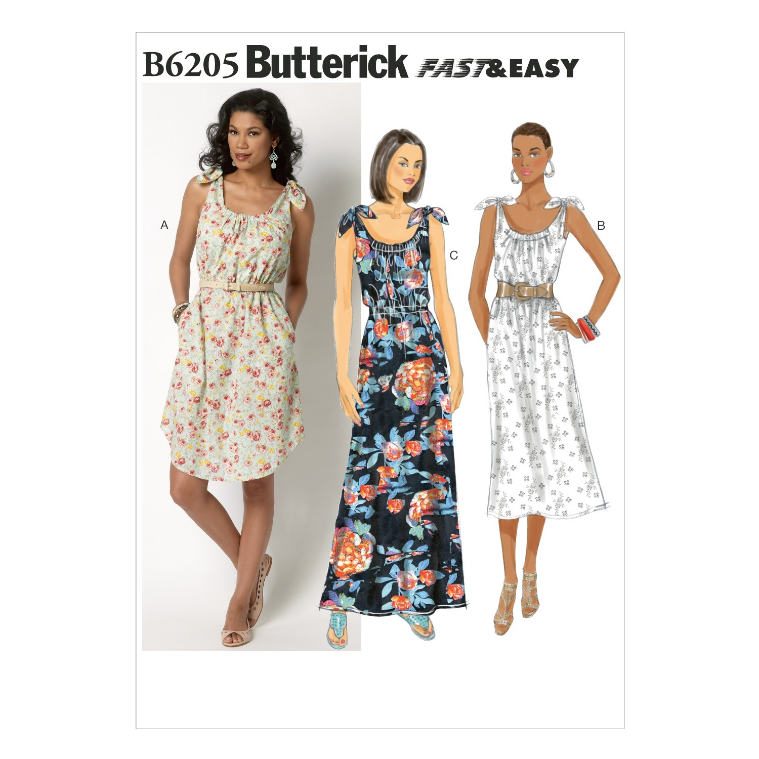 Butterick Sewing Pattern 6205 Misses' Pullover Summer Dress