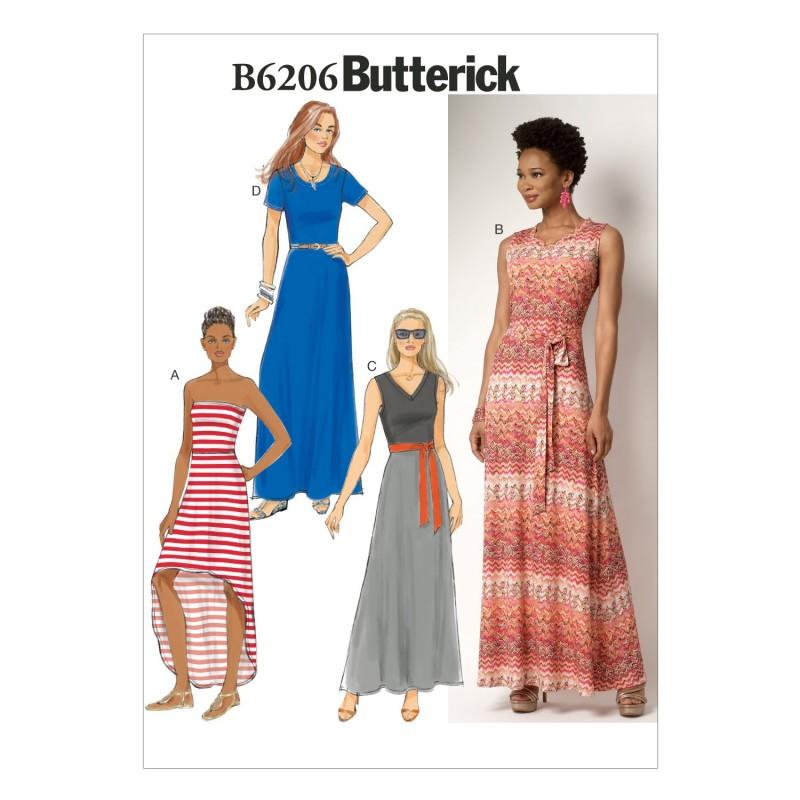 Butterick Sewing Pattern 6206 Misses' Petite Summer Dress & Belt