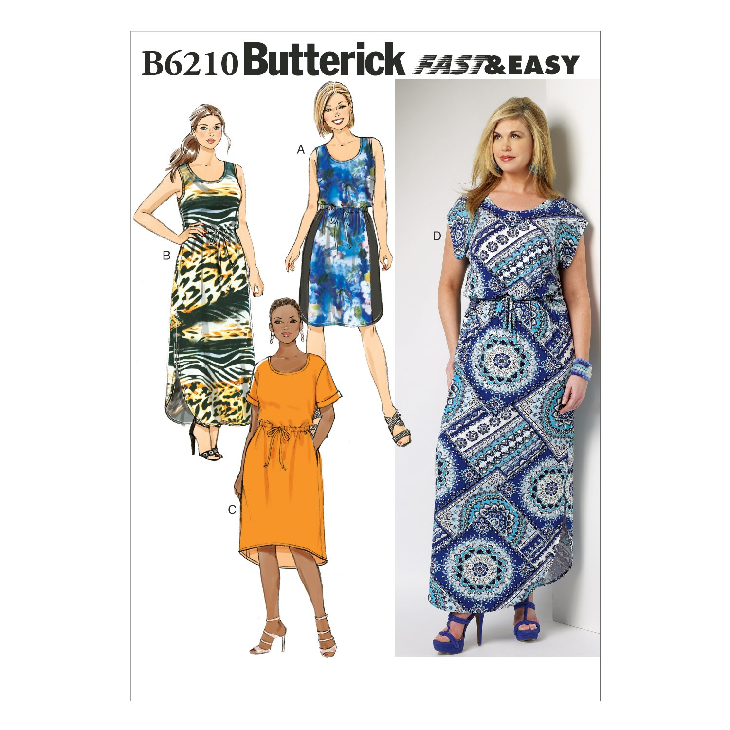 Butterick Sewing Pattern 6210 Women's Petite Summer Dress