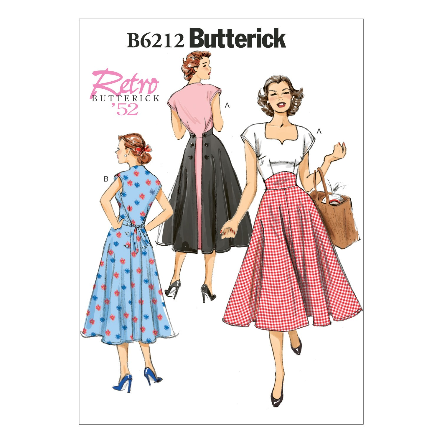 Butterick Sewing Pattern 6212 Misses' Pullover Back Wrap Dress