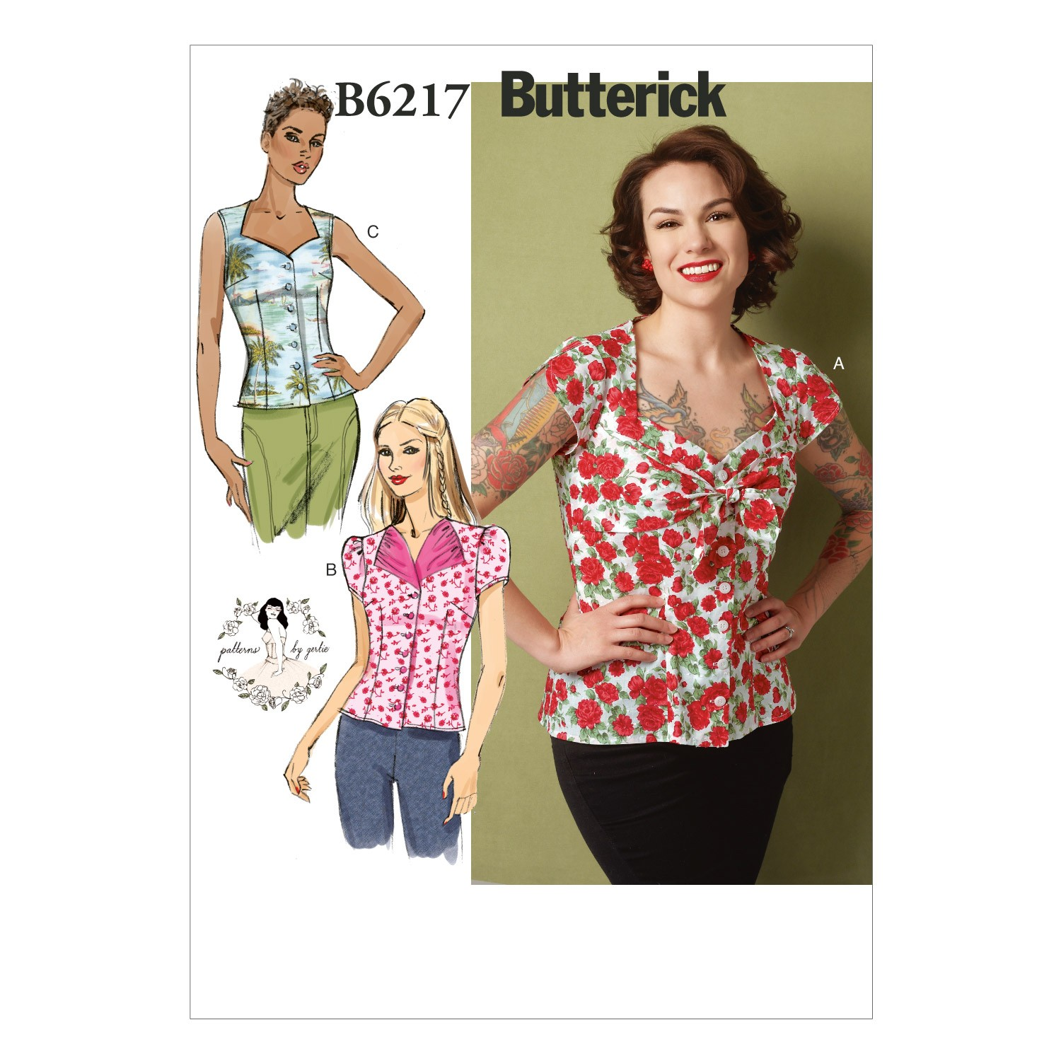 Butterick Sewing Pattern 6217 Misses' Loose Fitting Blouse Shirt