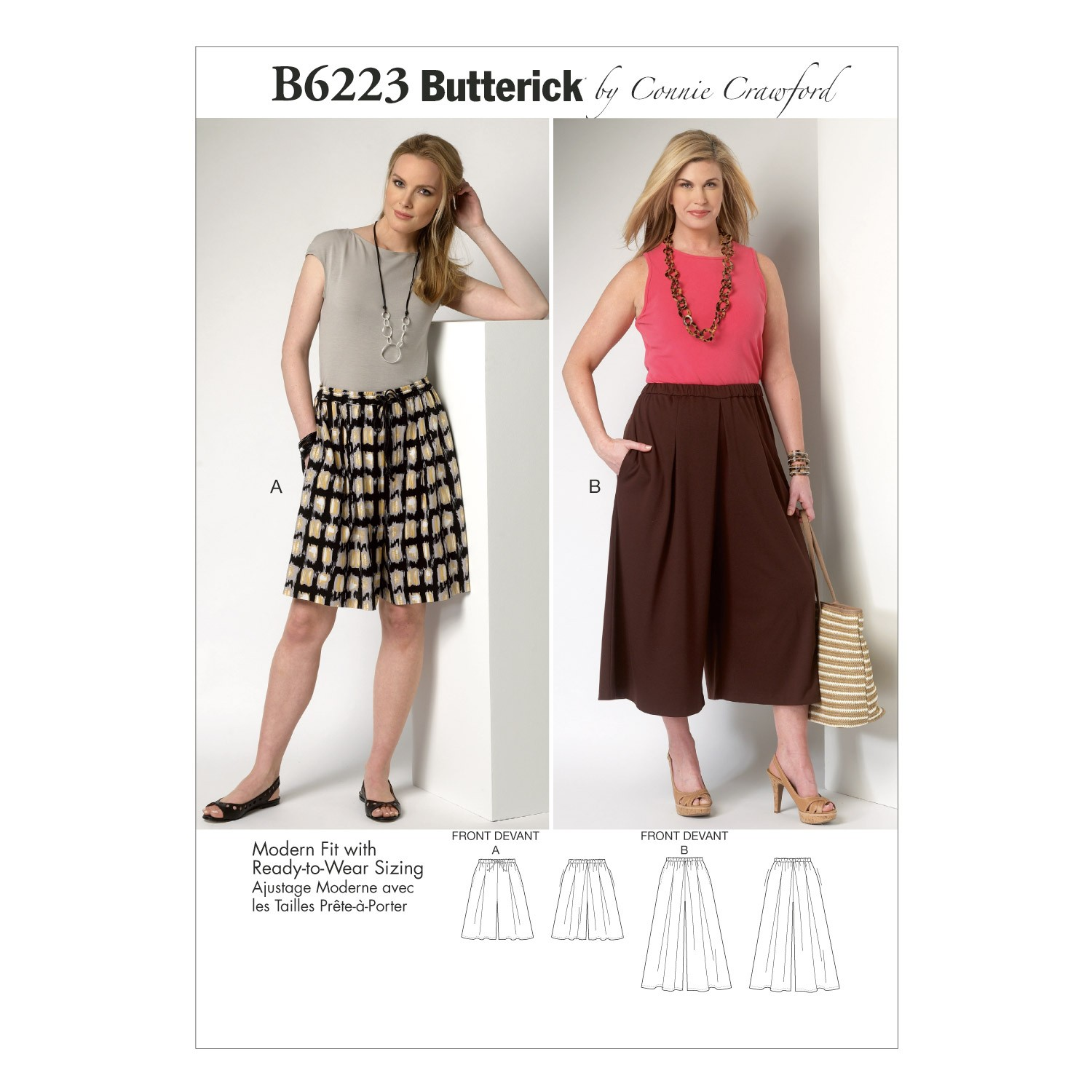 Butterick Sewing Pattern 6223 Misses' Culottes